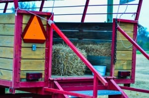 hay ride trailer