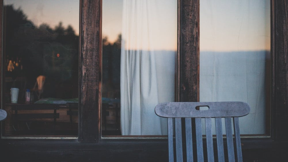wooden chair on porch