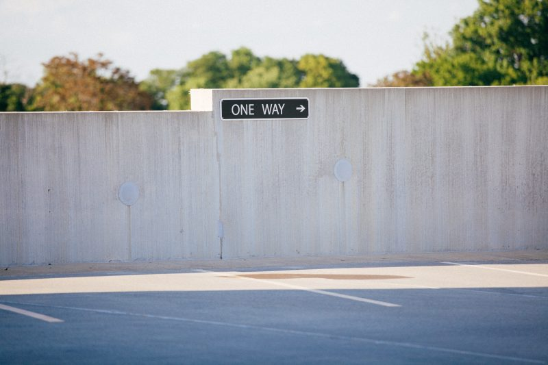 Parking lot one way