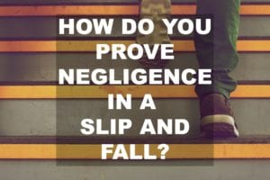 Negligence in slip and fall
